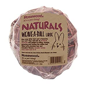 Rosewood Naturals Edible Gnaw Weave-A-Ball, Large