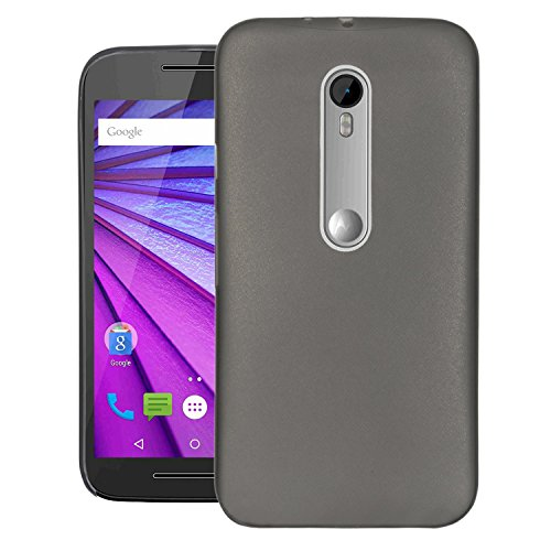 Moto G Turbo Edition Case, Kangaroo 0.6MM Air Series Hard Case Back Cover Bumper [ Semi-transparent ] Back Cover for Motorola Moto G Turbo Edition - Black  available at amazon for Rs.348