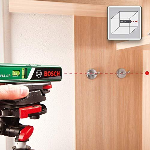 Bosch DIY Laser-Wasserwaage PLL 1 P, Batterien, Universalhalterung, Karton (Arbeitsbereich Linienlaser 5 m, Arbeitsbereich Punktlaser 20 m, +/- 0,5 mm Messgenauigkeit) - 3