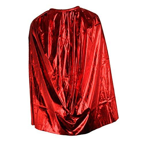 auberer Umhang Hexen Cape Cosplay Kostüm für Junge Mädchen - Rot (Rot Und Schwarz Kapuze Mädchen Kostüme Robe)