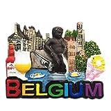Aimant pour Réfrigérateur Bruges Gand Anvers Bruxelles Belgique 3D Résine Artisanale Fait Main Tourisme Voyage Ville Souvenir Collection Lettre Réfrigérateur Autocollant...