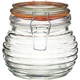 Kitchen Craft Home Made Pot à miel en forme de ruche avec joint silicone Verre 650 ml