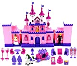 My Beautiful Castle 34 Toy Doll Playset w/ Lights, Sounds, Prince and Princess Figures, Horse Carria