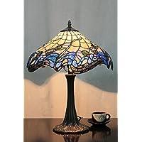 Lampada da tavolo europeo Tiffany 16 Inch Blue Fantasy Vintage Pastorale lusso Desk Lamp Lampada da comodino