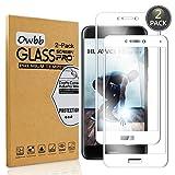Owbb 2 Pièces Film Protecteur D'écran en Verre Trempé pour Huawei P8 Lite (2017)/P9 Lite (2017) Blanc Couverture Complète Protection 99% Haute Transparent Anti-déflagrant