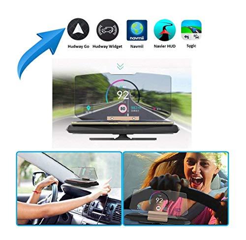 Zoech Head up Display HUD für Smartphones und iPhones bis 13,97cm (5,5 Zoll). Auto Handy Halterung GPS Navigation Bild Reflektor ⭐️⭐️⭐️⭐️⭐️