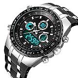 Herren Uhren Wasserdichte Militär Analog Digitale Armbanduhr männer Sportuhren Digitaluhr Herren Uhr Schwarz Silikonband Armbanduhren