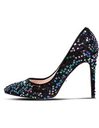 f44a6327fd3 Head Over Heels Dune All Over Sequin Alegra Stiletto Heel Court Shoes RRP  £85