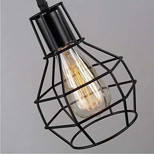 Bayc esercito industria pendolo lampada con paralume in metallo struttura lampadario hängeleuchter retro 371343