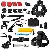 7dayshop 30en 1Sports de plein air Kit d'accessoires pour GoPro Caméras d'action