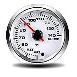 """MMD-GPS Speedometer Leggero Misuratore di Temperatura Temperatura Olio 2""""52MM Misuratore di luminosità a Sette Colori con quadrante Bianco Durevole"""