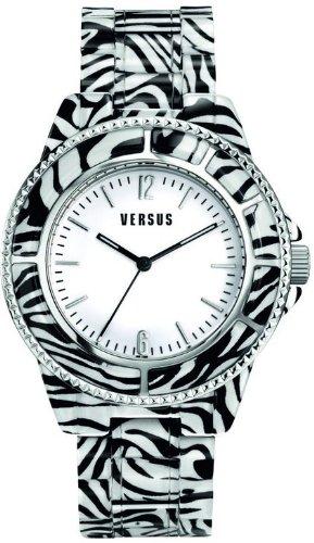 Versace Versus Tokyo–Orologio al Quarzo per Donna, Policarbonato, motivo zebrato
