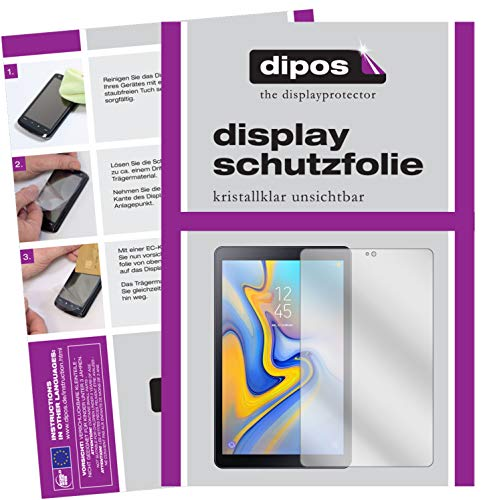 dipos I 2X Schutzfolie klar passend für Samsung Galaxy Tab A 10.5 Folie Displayschutzfolie (Galaxy Tab 2 Display-schutzfolie)