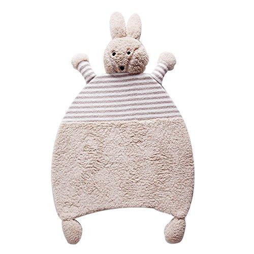 GRENSS Cartoon Kaninchen weichen Teppichen Baby krabbeln Teppiche Kinderzimmer Matten schöne Tiere warmen Teppichen Anti-Skid Schlafzimmer Teppiche, 03,660 mm x 1000 mm (Kaninchen Willkommen-matte)