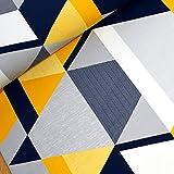 Tidöblomma Trianglar Senf GOTS Sommersweat 50cm x 158 (250g/m²) 96% Baumwolle/4% Elasthan