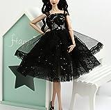 Stillshine Fashionistas Hochzeit Kleidung Prinzessinnen Kleider Für Barbie Puppe/Spitzekleid / Puppenzubehör Dress Up (Schwarz)