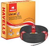 Havells Lifeline Cable WHFFDNKA16X0 6 sq mm Wire (Black)