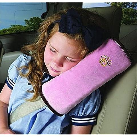 Los niños la normativa de seguridad de la silla de coche de la correa de la correa de transmisión en forma de la cubierta de la manga de almohadilla para cojín de punto de correa para el hombro y suave de