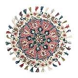 WSX Wolldecke im Bauernstil | Round Area Teppiche für Schlafzimmer | Sofa Couchtisch Handnähteppich (größe : Diameter150cm)
