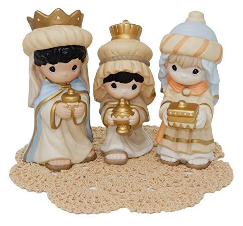 Precious Moments Weihnachtskrippe mit Westbraid Deckchen, We Three Kings, 181052