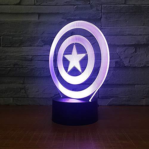 Schild Thema 3D LED Lampe Nachtlicht 7 Farben ändern Touch Stimmung Lampe Weihnachtsgeschenk Tischlampe Dropshipping LHDOVIS
