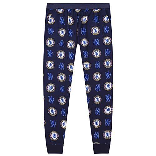 FC Chelsea Herren Lounge-Hose, Pyjamahose - Original-Fußballgeschenk - Elastischer Bund - Königsblau - XL -