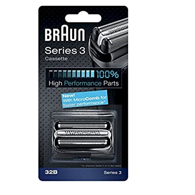 Braun Series 3 Combi 32b Foil And Cutter Replacement Pack, with SmartFoil Technology Captures Hair Growing In All Directions, and Get Back 100% of Your Shaver's Performance from Braun