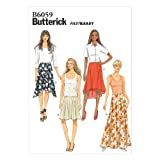Butterick Patterns B6059 Misses' Skirt Sewing Template, Size A5 (6-8-10-12-14)