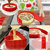 Cpixen Best Silicone Cake Mold Magic Bake Snake-DIY Baking Mould Tool Design Your Pastry Dessert With Any Pan Shape, 4 PCS/lot Nonstick Flexible Reusable Easy To Use And Wash.