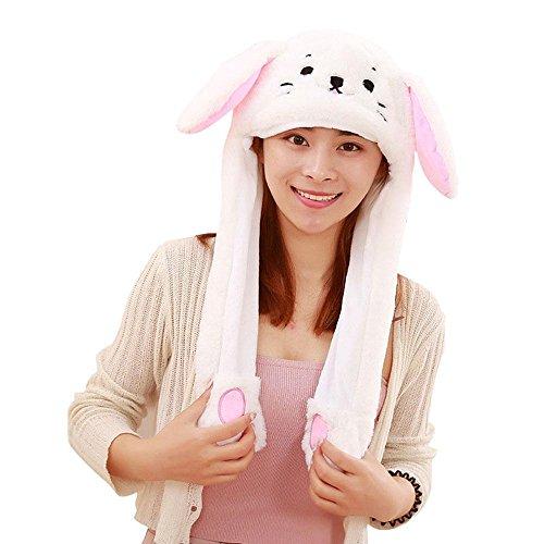 AOLVO [Trend der 2018] Tik TOK Funny Plüsch Bunny Hat Gap beweglich,/Jumping Kaninchen Ohr Hat Cute/Animal Hat Head-Wear Kostüm Zubehör mit Die Ohren in Creative Geschenk Spielzeug Katze