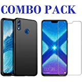 AONIR Combo Offer - Tempered Glass & Candy Back Cover_Premium Quality Screen Guard And Soft Case Cover For Huawei Honor 8X