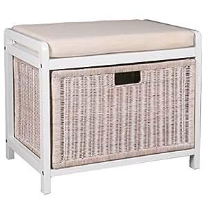 wicklow panier a linge coffre a linge avec siege blanc. Black Bedroom Furniture Sets. Home Design Ideas
