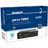 Edision PICCO T265, Full High Definition DVB-T2, H265 HEVC 10 Bit ricevitore digitale terrestre, WiFi Supporto, telecomando u