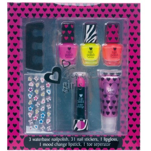 super-girls-kinder-wasserbasis-nagellack-lipgloss-set-kids-nail-polish-7-teilig