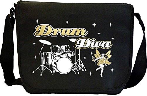 Drum Kit Diva Fairee - Sheet Music Document Bag Musik Notentasche MusicaliTee