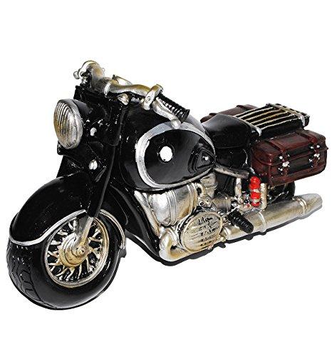 Unbekannt Spardose Motorrad / Oldtimer - schwarz - stabile Sparbüchse aus Kunstharz - Bike / Biker / Fahrzeug Old Style - Fahrschule - Geld Sparschwein / Fahrzeuge - lu..