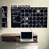 Gemini Mall® Planning mensuel des activités Liste Tableau mémo Tableau noir autocollant Calendrier mural pour Home Office 60cm x 92cm