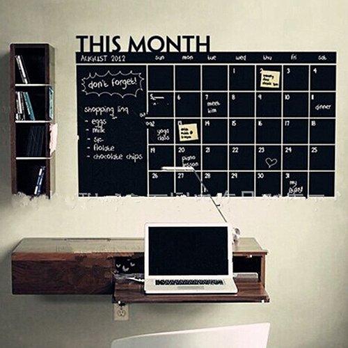 Gemini Mall® Monatsplaner to do Liste Memo Board Kreidetafel Tafel Aufkleber Wand Kalender für Home Office 60cm x 92cm