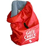 JL Childress Gate Check Bag for Car Seats for Newborn and Above (Red)