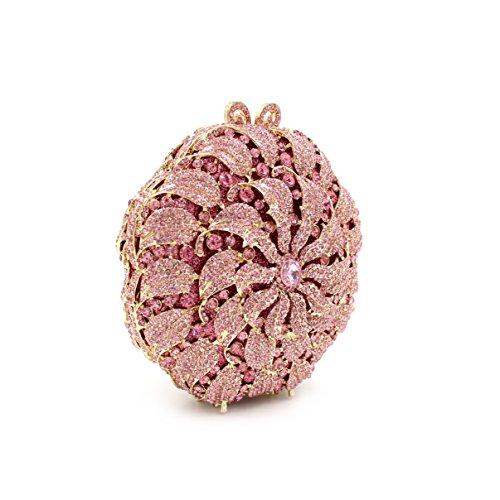 MOGOR, Poschette giorno donna medium, Colored (argento) - ABC-321 Pink