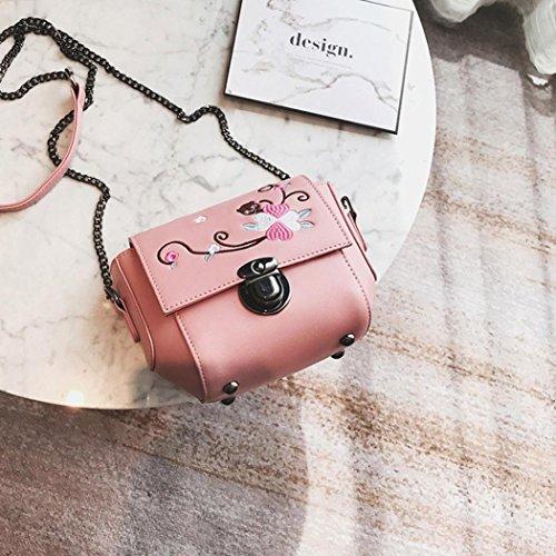Borsa chiusura lampo, donne moda borsa cerniera borsa pu in pelle borsa a tracolla tote signore borsa by Kangrunmy Rosa