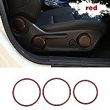 Set de 6 piezas de anillo para el botón de ajuste del asiento del coche, de aleación de aluminio, para Mercedes Benz A B CLA GLA Clase 200 220 260 W176 W117 W246 C117 A180