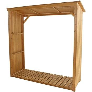 gartenpirat kaminholzunterstand standard f r bis zu 1 4 m brennholz garten. Black Bedroom Furniture Sets. Home Design Ideas