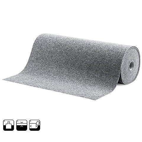 Moquette d'extérieur gris | tapis type gazon artificiel | jardin, terrasse, balcon | 250x200cm