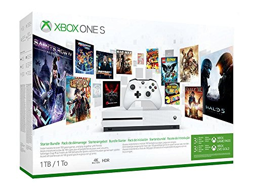 Xbox One S 1TB Console Starter Bundle with 3-month Xbox Game Pass and Xbox Live Gold Best Price and Cheapest