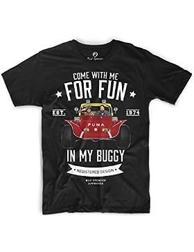 Bud Spencer Herren Zwei wie Pech und Schwefel T-Shirt (schwarz)