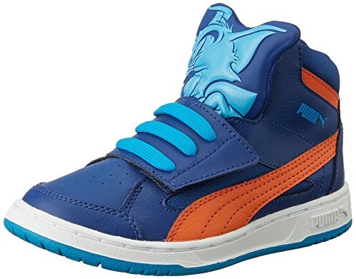 Puma Puma Rebound Tom &Jerry Kids, Unisex-Kinder Hohe Sneakers, Blau (sodalite Blue/cloisonn/orange), 35