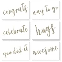 Best Paper Greetings 36 Pack All Occasion Sentiments Glitter Note Cards Greeting Cards