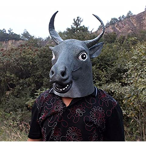 upetch (TM) Halloween full face gris látex realista Stubborn disfraces Buffalo máscara Halloween Fiestas de Disfraces para Masquerade Halloween regalos