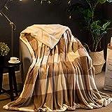 Zzaini Warme Sherpa Werfen Kuscheldecke,Luxus Reversible Flausch Wolle Plüsch Kuscheldecke Leichte Komfort Bett Blatt Duvet Abdeckung-K 100x160cm(39x63inch)